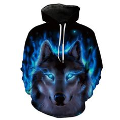Wolf Scary Howl Youth Fleece Crewneck Sweater Werewolf Face