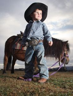 So cute! Apparently he competes on the Australian Rodeo circuit with his mini!