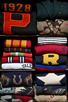 """lovely warm sweaters for the ivy league look with ralph lauren and cozy fall warmth """"Wear Pink and Make the Boys Wink! Moda Preppy, Preppy Men, Preppy Style, Preppy Family, Tommy Hilfiger, New England Prep, Preppy Handbook, Preppy Sweater, Varsity Sweater"""