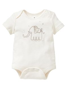 Gap | Favorite embroidered elephant bodysuit