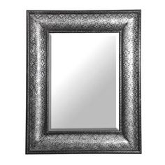 Antique Silver Embossed Large Mirror