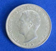Atualmente nos leilões da #Catawiki: Portugal Monarquia - D. Luís I - ( 1861-1889 ) - 500 Reis - 1888 - Prata