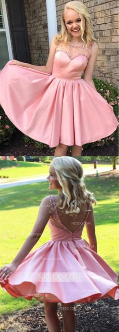 pink homecoming dress,short mini ball gowns,swing party dress,homecoming dresses sold by olesa wedding shop. Shop more products from olesa wedding shop on Storenvy, the home of independent small businesses all over the world. Cheap Short Prom Dresses, Cute Homecoming Dresses, Prom Dresses For Teens, Bridesmaid Dresses, Bridesmaids, Short Satin, Vestidos Color Rosa, Dream Dress, Princesses