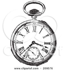 pocket watch tattoo - Google Search: