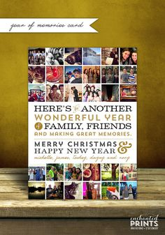 Year of Memories  Holiday Card by EnchantedPrints on Etsy, $25.00