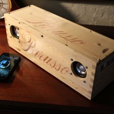 Audiophile Bluetooth Stereo Speaker System > High Fidelity > Artisan Crafted > Reclaimed Repurposed Wood Winebox > Made In CALIFORNIA, USA