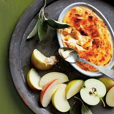 Caramel Apple Dip | A sugary spin on a cream cheese classic with a crisp bruléed topping. | SouthernLiving.com