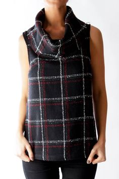 Like this BCBG Generation top? Shop this without using money! Trade. Shop. Discover. #fashionexchange #prelovedfashion  Black Check Tweed Turtle Neck Top by BCBG Generation