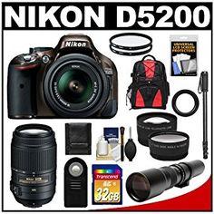 Nikon D5200 Digital SLR Camera & 18-55mm G VR DX AF-S Zoom Lens (Bronze) with 55-300mm VR + 500mm Telephoto Lens + 32GB Card + Backpack + Tele/Wide Lenses + Monopod + Accessory Kit - http://electmecameras.com/camera-photo-video/digital-cameras/digital-slr-camera-bundles/nikon-d5200-digital-slr-camera-1855mm-g-vr-dx-afs-zoom-lens-bronze-with-55300mm-vr-500mm-telephoto-lens-32gb-card-backpack-telewide-lenses-monopod-accessory-kit-com/