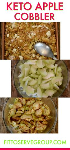 Keto Apple Cobbler is a recipe that uses chayote squash as a low carb substitute. - Keto Apple Cobbler is a recipe that uses chayote squash as a low carb substitute for apple. It's a cobbler recipe that is low in carbs and keto-friend. Keto Desserts, Keto Friendly Desserts, Keto Snacks, Keto Sweet Snacks, Ketogenic Diet Meal Plan, Diet Meal Plans, Ketogenic Recipes, Keto Recipes, Dinner Recipes