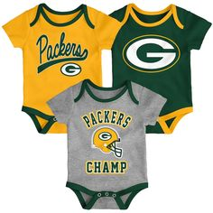Get your little one ready for football season with this bodysuit Packers Baby, Packers Football, Football Memes, Football Season, Greenbay Packers, Green Bay Packers Fans, Nfl Green Bay, Cute Bodysuits, Team Names