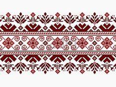 Ilustración vectorial de ornamento ucraniano patrón transparente
