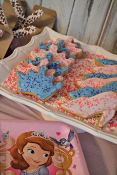 Simple princess party ideas, inspired by Sophia the First.