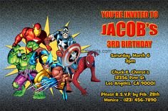 Free Superhero Birthday Party Invitations