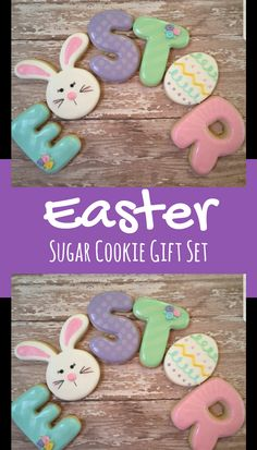 Easter Letter Cookie Set Gift Idea #affiliate