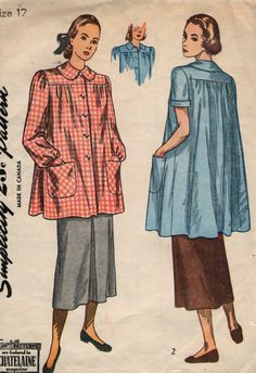 Vintage 1940s Simplicity Sewing Pattern by SewAddicted2SewMuch