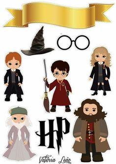 Harry Potter Anime, Harry Potter Diy, Harry Potter Stickers, Harry Potter Printables, Theme Harry Potter, Imprimibles Harry Potter Gratis, Anniversaire Harry Potter, Disney Cards, Harry Potter Birthday