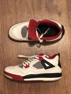 b262ead17c Jordan 4 Retro 2012 Little Kid s Shoes White Black Red Size 3y  fashion