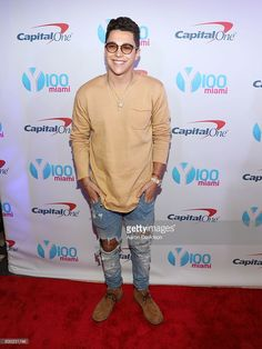 Austin Mahone attends Y100's iHeartRadio Jingle Ball 2016 at BB&T Center on December 18, 2016 in Sunrise, Florida.