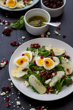 Apple Pomegranate Fall Salad by abeautifulday #Salad #Apple Pomegranate