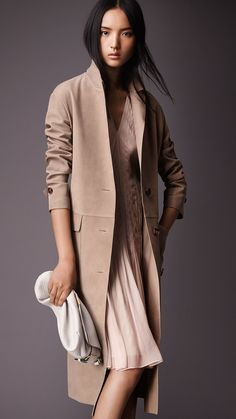 Suede Trench Coat | Burberry