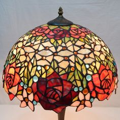 Rose Tiffany Lamp 16S0-84