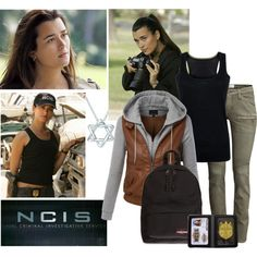 The Women of NCIS - Ziva David by firewitch23 on Polyvore featuring Amanda Wakeley, LE3NO, H&M, Eastpak, Elsa Peretti, Co|te and Ziva