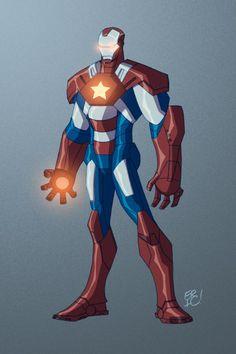 Iron Patriot by *EricGuzman on deviantART