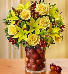 Thanksgiving Floral Arrangements | thanksgiving flowers centerpieces and gift baskets being offered with ...