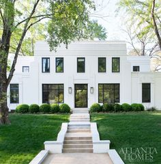 Ul Art Deco Revival House Featured In The Current Atlanta Homes U0026  Lifestyles. Built In The Evans Cucich House Is Named After Its Former  Owners And Was ...
