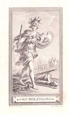 """H. Gravelot """"Art Militaire"""" Etched after an Engraving #Realism"""