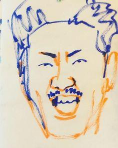 いいね!12件、コメント2件 ― @1mindrawのInstagramアカウント: 「#1mindraw #katsurasando #桂三度 #渡邊鐘 #世界のナベアツ #ジャリズム #落語家 #19690827 #birthday #誕生日 #portrait #筆ペン画」