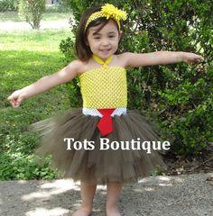 Tutu Dress Spongebob Inspired- Infant. $30.00, via Etsy.