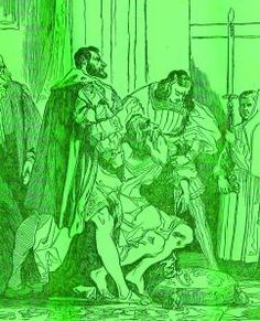 """Leonardo Da  Vinci muere  en Fontainebleau en brazos  de Francisco I. Detalle del grabado sobre  el cuadro de  M. Gigoux publicado por """"Le Magasin Pittoresque"""", 1835. Ejemplar de La colección Reding"""