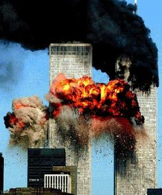 Hijacked United Airlines Flight 175 from Boston crashes into the south tower of the World Trade Center and explodes at a. on September 2001 in New York City. (Photo by Spencer Platt/Getty Images) never forget World Trade Center, Trade Centre, 911 Never Forget, Lest We Forget, Don't Forget, Flatiron Building, God Bless America, We Are The World, Change The World