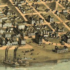 alton illinois map   Alton Illinois 1867