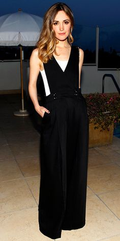 "InStyle Rose Byrne. ""Byrne hit the Women in Film and MaxMara dinner in West Hollywood wearing a white camisole underneath her Sportmax jumpsuit.""  Photo courtesy MaxMara."