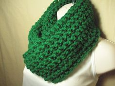 Paddy Green Cowl Infinity Circle Scarf Neckwarmer by madebymandy35, $25.00
