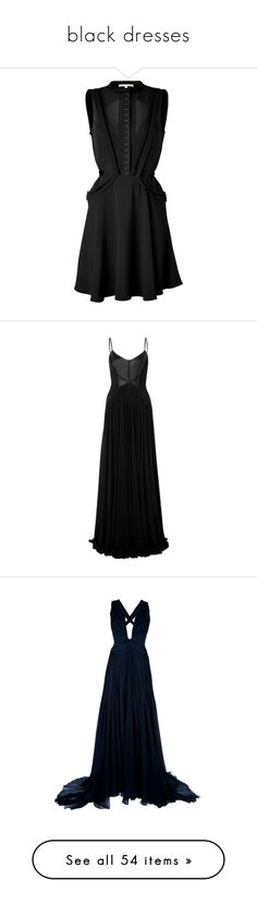 """""""black dresses"""" by bored-as-hell ❤ liked on Polyvore featuring dresses, vestidos, little black dress, vintage looking dresses, lbd dress, sleeveless cocktail dress, sleeveless fit and flare dress, gowns, long dresses and maxi dresses"""