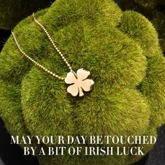 Happy #StPatricksDay! Hope lady luck pays each of you a visit! #alexwoo #littleicons #clover #luck #lovegold #futureheirlooms #stpats #stpatricks