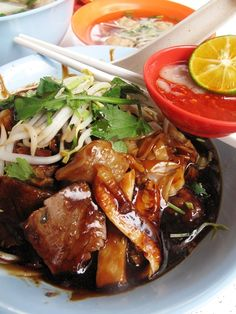 Hainanese style beef noodles