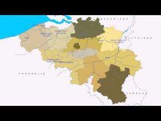 Topografie België rivieren en kanalen - YouTube