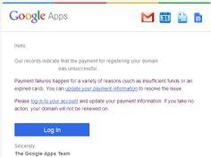 Google Apps Domain Registration - Payment Failure