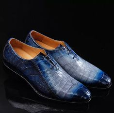 Timeless Alligator Shoes Mens Whole Cut Alligator Dress Shoes Trendy Mens Shoes, Mens Fashion Shoes, Shoes Men, Casual Leather Shoes, Suede Leather Shoes, Blue Suede Loafers, Loafers Men, Dress With Boots, Dress Shoes