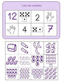 Les nombres jusqu'à 12