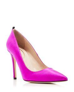 SJP by Sarah Jessica Parker Pumps - Fawn Satin High Heel | Bloomingdale's
