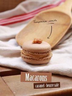Macarons caramel beurre salé - Fraise & Basilic