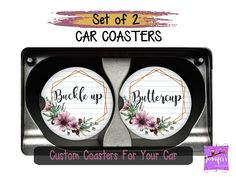 Custom Buckle Up Buttercup Car Coasters, Auto Cup Holder Coasters, Gift for Teen Driver, Birthday Gi - Moyiki Sites Wedding Gifts For Couples, Birthday Gifts For Women, Mom Birthday Gift, Gifts For Teens, Gifts For Wife, Gifts For Friends, Tween Gifts, Birthday Sayings, 70th Birthday