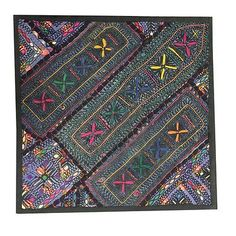 VINTAGE-ETHNIC-PILLOW-COVER-KUTCH-EMBROIDERED-WALL-HANGING-TAPESTRY-034-18X18-034  http://stores.ebay.com/mogulgallery