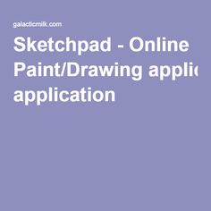 Sketchpad - Online Paint/Drawing application